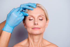 botox awi injections injectables woman face gloves wrinkles