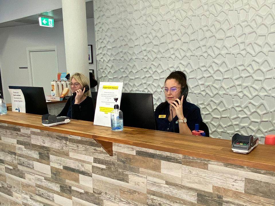 Reception area - after